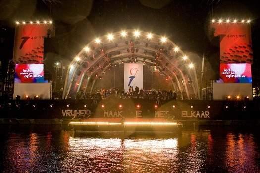 5 Mei Concert op Amsterdamse grachten