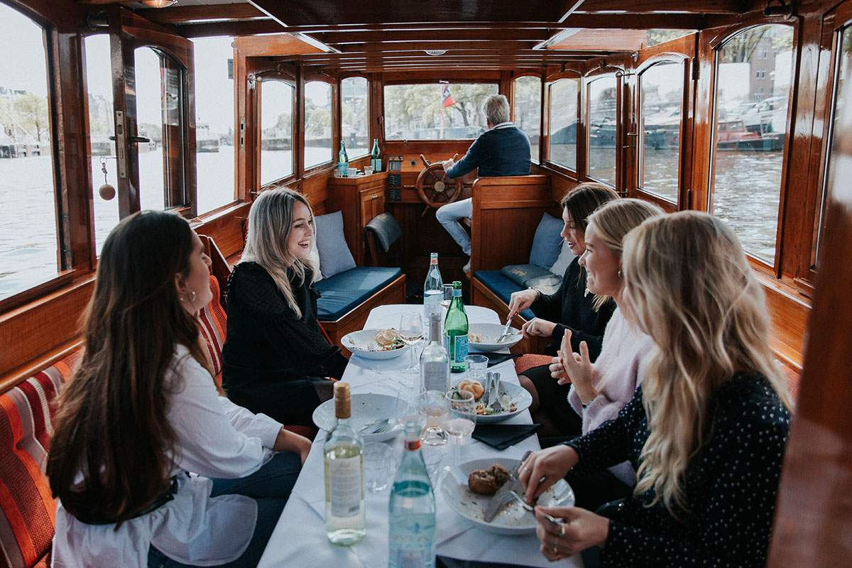 Luxe rondvaartboot Amsterdam